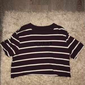 cropped striped guess shirt
